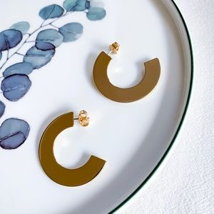 J. Crew Disc Hoop Earrings